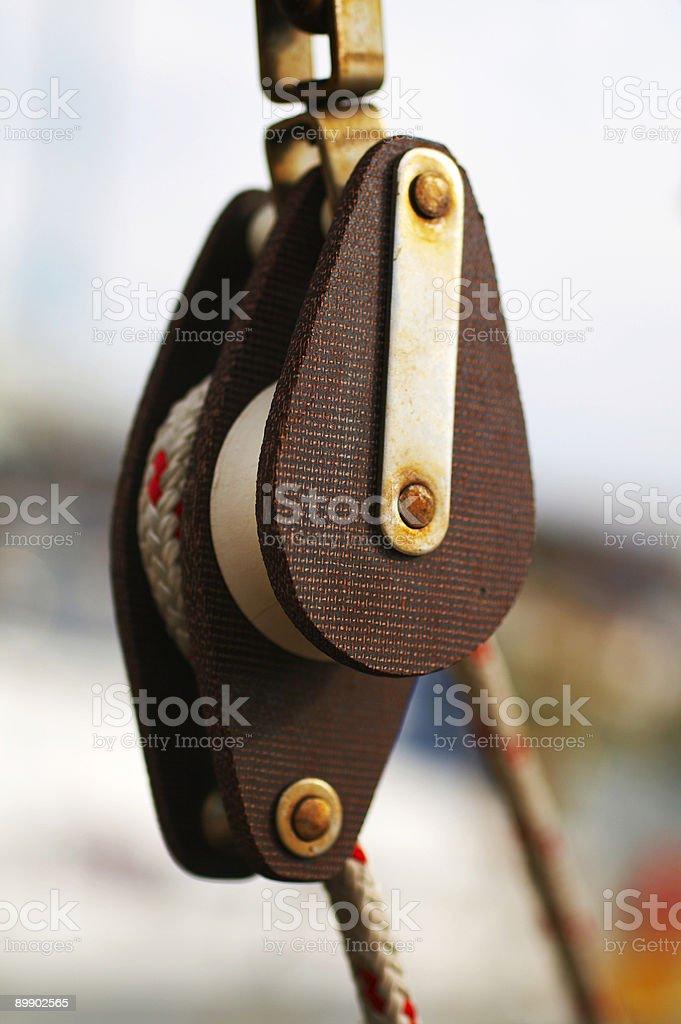 Flaschenzug-detail Lizenzfreies stock-foto