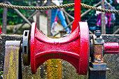 old rusty iron padlock, selective focus