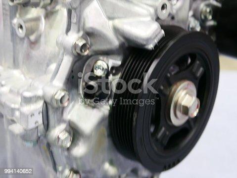istock Pulleys of car engine mechanism 994140652
