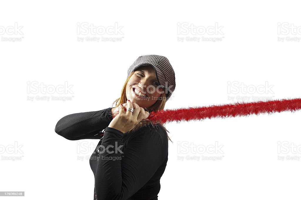 Pulling gesture stock photo