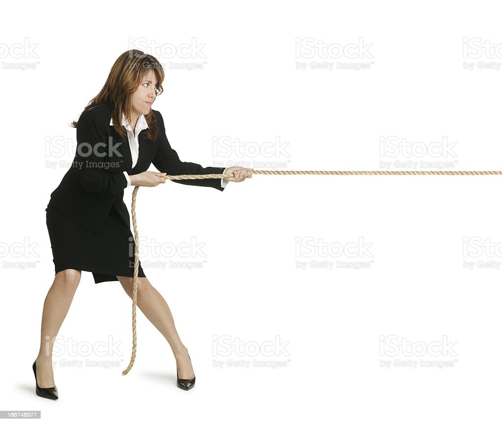 Pulling On Rope royalty-free stock photo