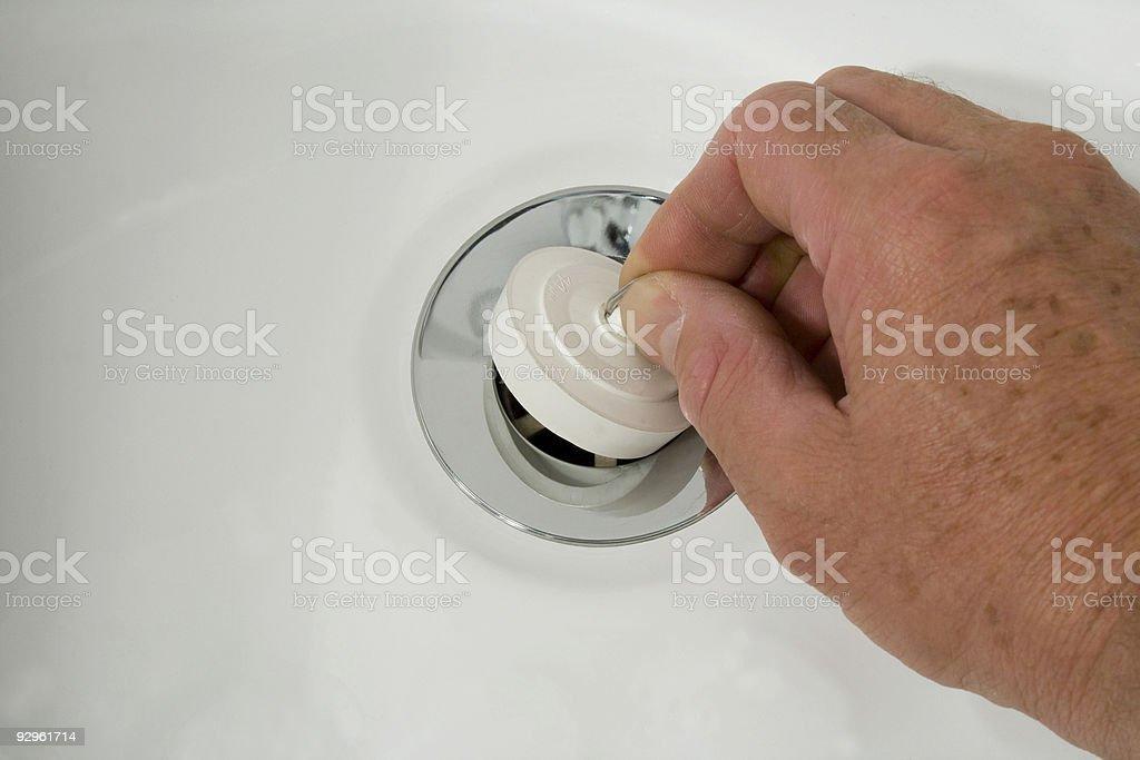 Pulling the Plug stock photo