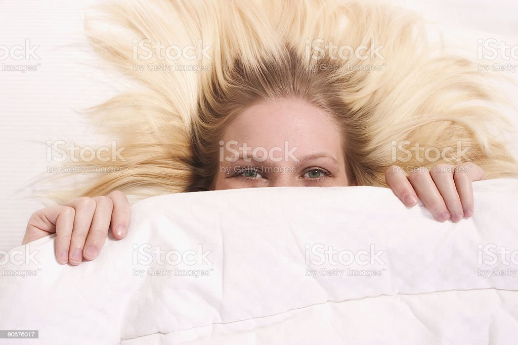 Pulling up the Covers royalty-free stock photo