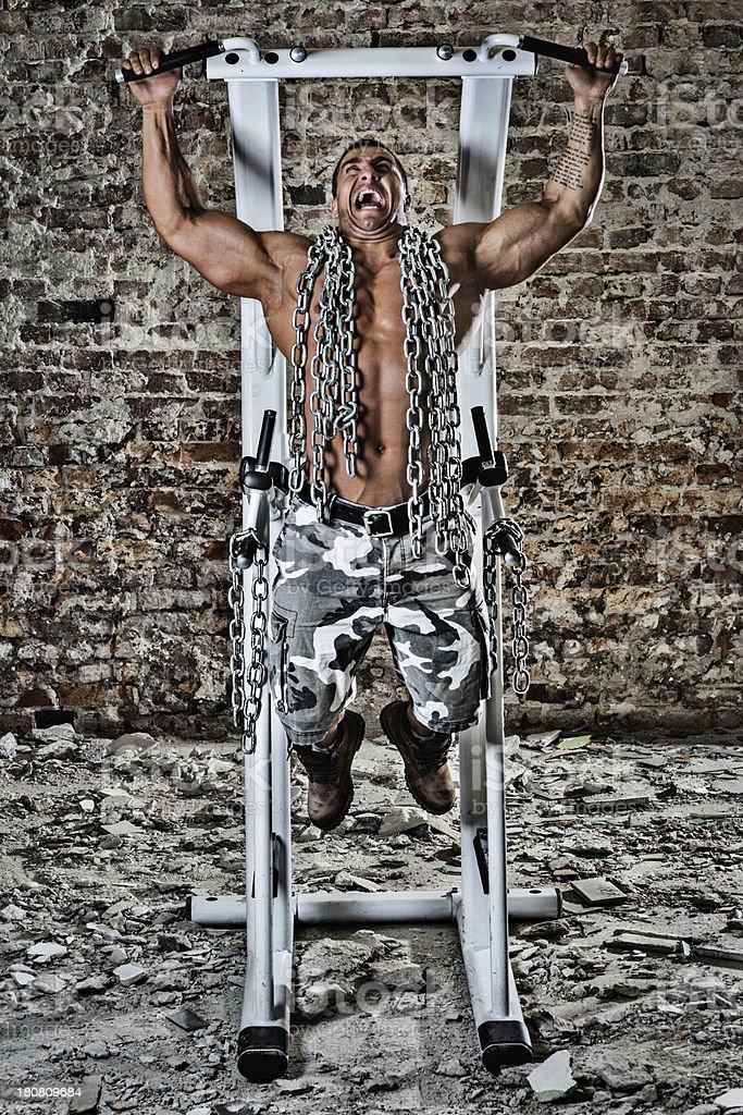 Pull-ups with chains royalty-free stock photo