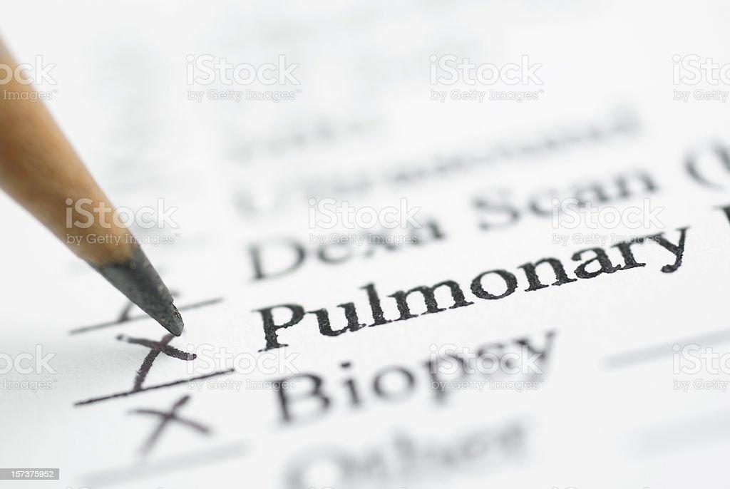 pulmonary lab report royalty-free stock photo