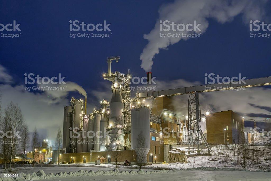 Pulp mill stock photo