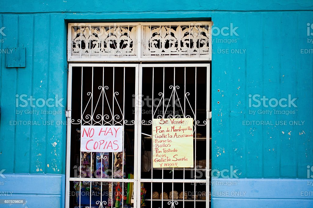 Pulperia Store Advertisement in Nicaragua stock photo
