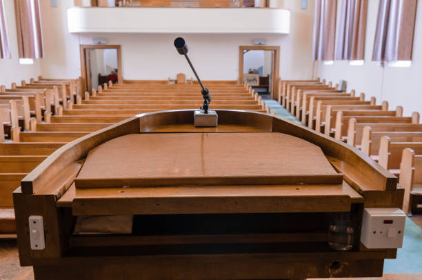 Pulpit at a church Pulpit at a church place of worship stock pictures, royalty-free photos & images