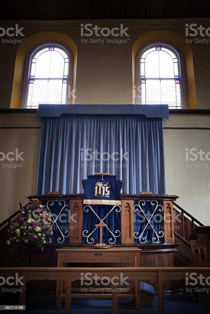 Pulpit in Nonconformist Norfolk Chapel royalty-free stock photo