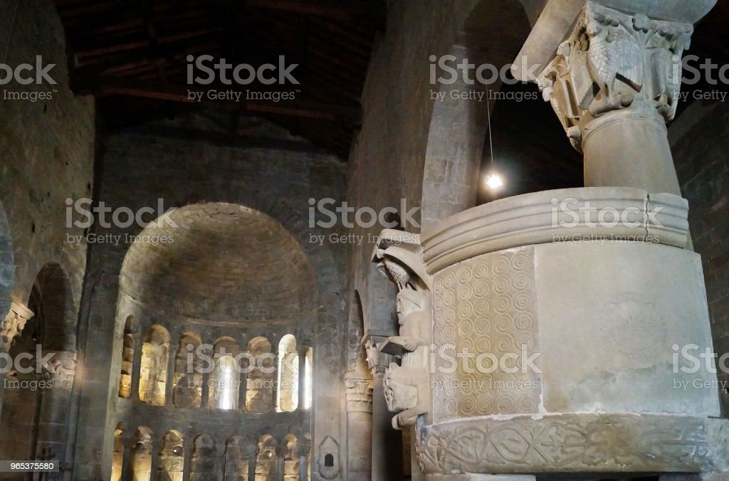 Pulpit of the church of San Pietro in Gropina, Tuscany royalty-free stock photo
