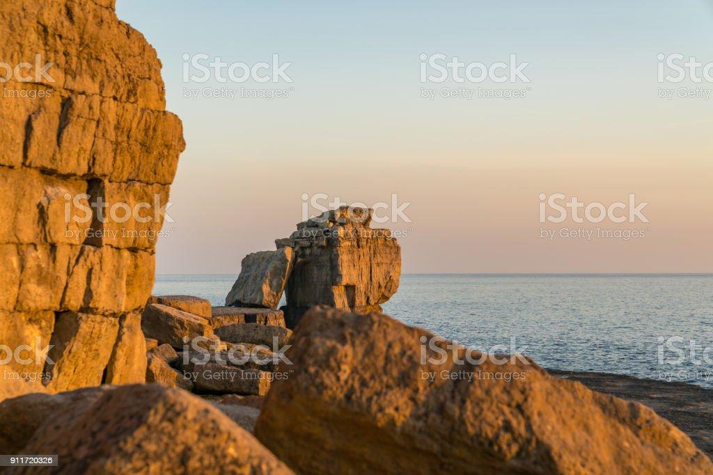 Pulpit Rock, Isle of Portland, Jurassic Coast, Dorset, UK stock photo