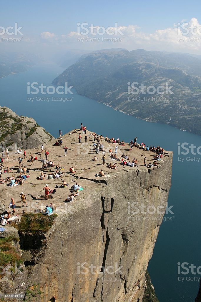 Pulpit rock stock photo