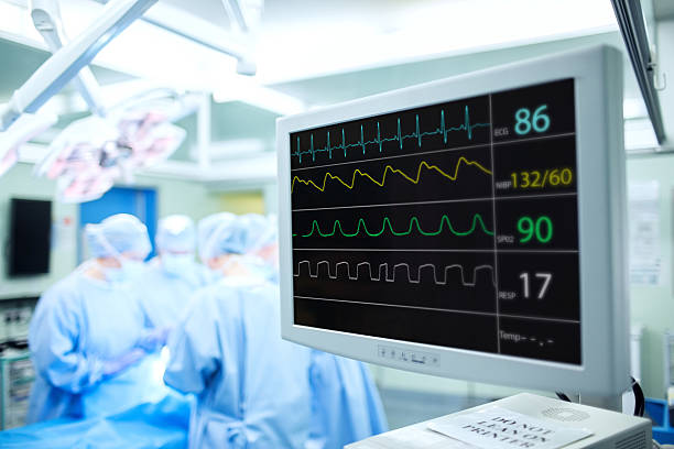 Pulse Monitoring Machine In Surgery Room stock photo