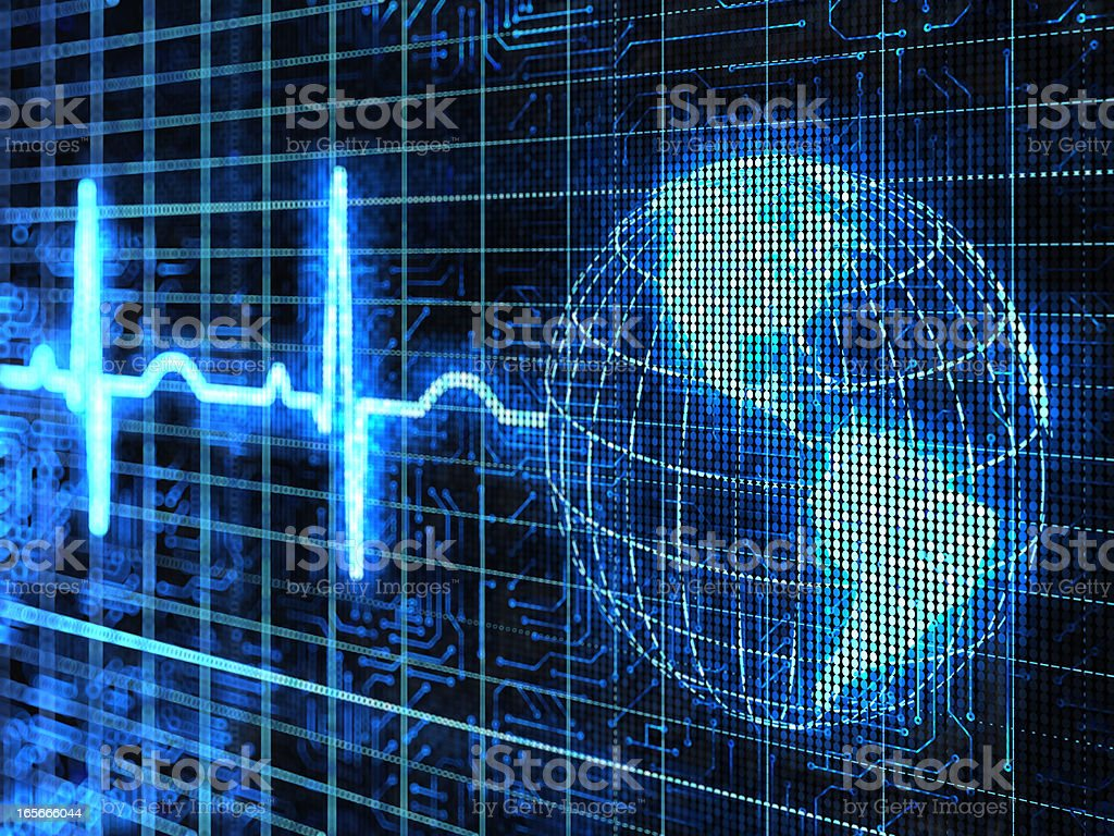 Pulse of the earth royalty-free stock photo