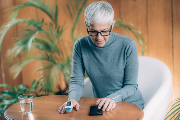 Pulse Oximeter, Blood Oxygen Saturation Monitor stock photo