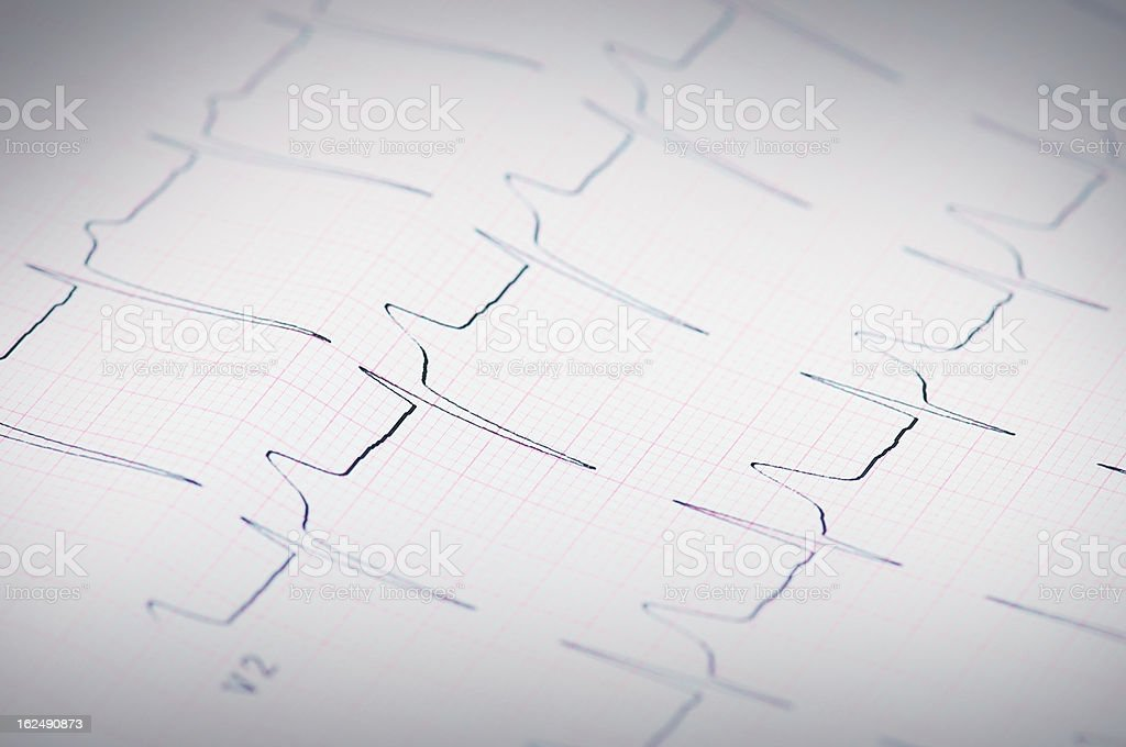 pulse trace of oscilloscope royalty-free stock photo