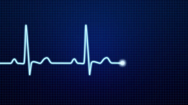 ekg pulse waveform - taking pulse stock photos and pictures
