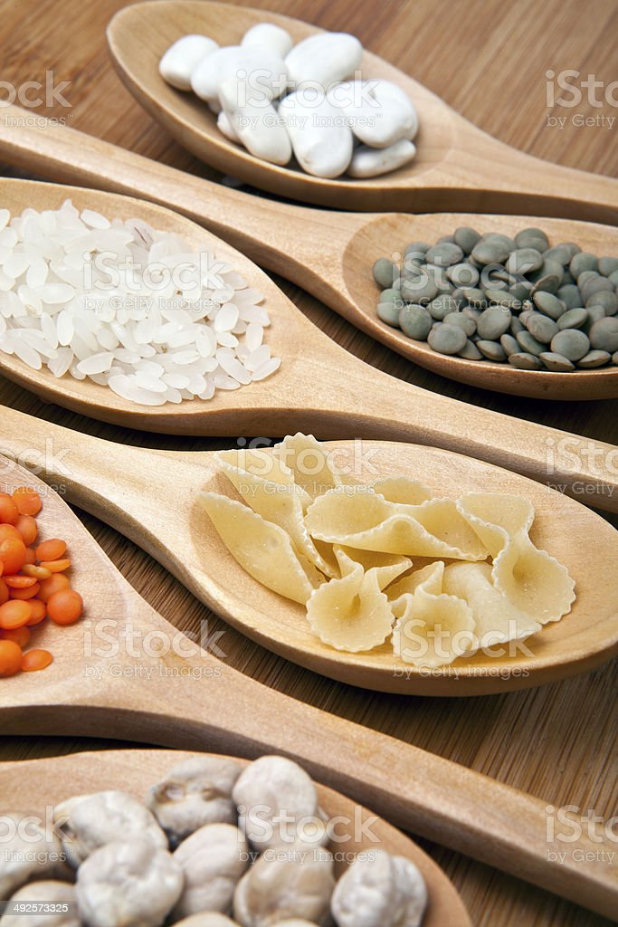 Pulses and spoons royalty-free stock photo