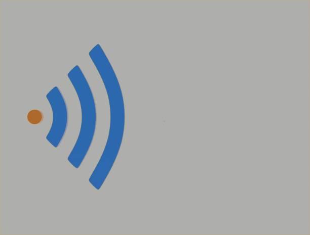 pulsierende Wifi Logo 3d illustration – Foto