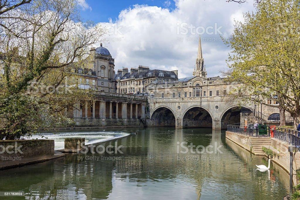 Pulteney Bridge, Bath stock photo