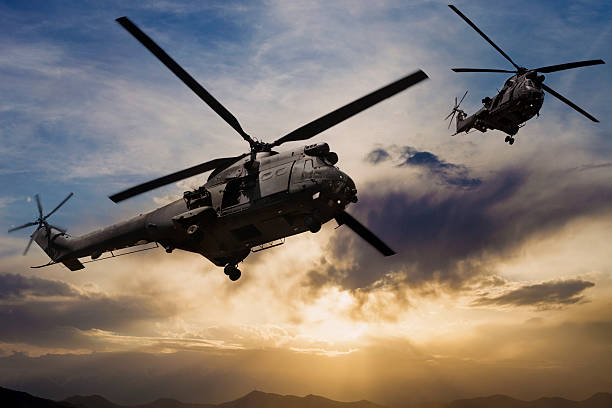 puma military helicopters - uk military stock photos and pictures