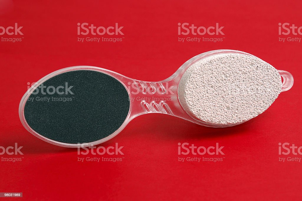 Pumice on a red background royalty-free stock photo
