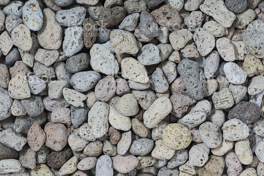 pumice pebbles stock photo