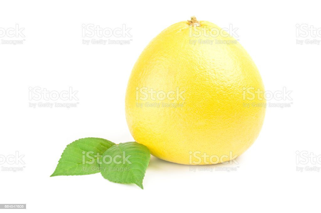Pummelo isolated on a white background with clipping path royalty-free stock photo