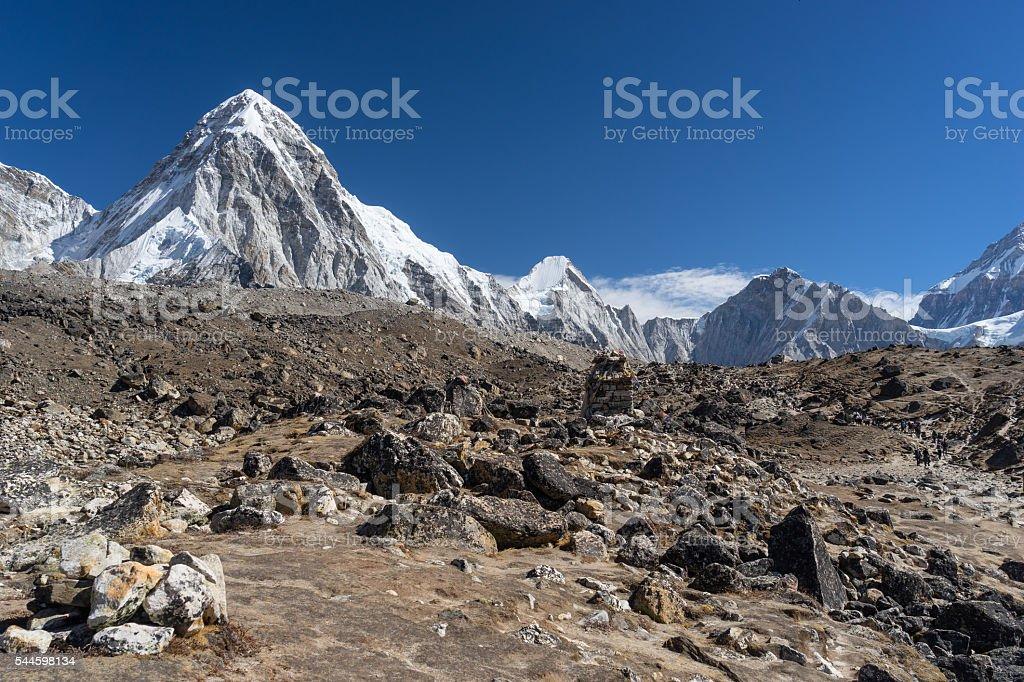 Pumori mountain landscape stock photo