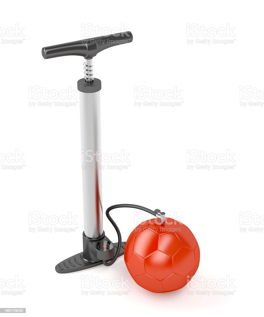 Pump and ball stock photo
