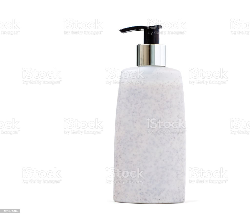 Pump Bottle Scrub stock photo