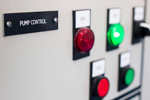 Pump control panel stock photo