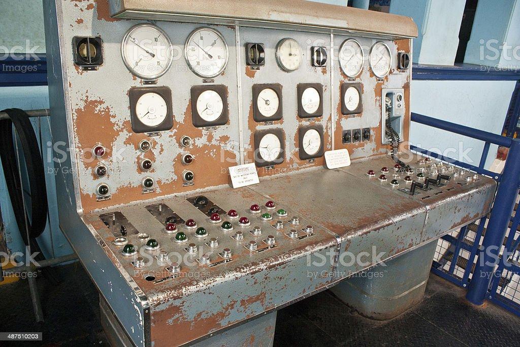 Pump House Control Unit stock photo