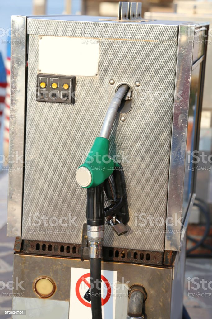 pump of a gas station stock photo