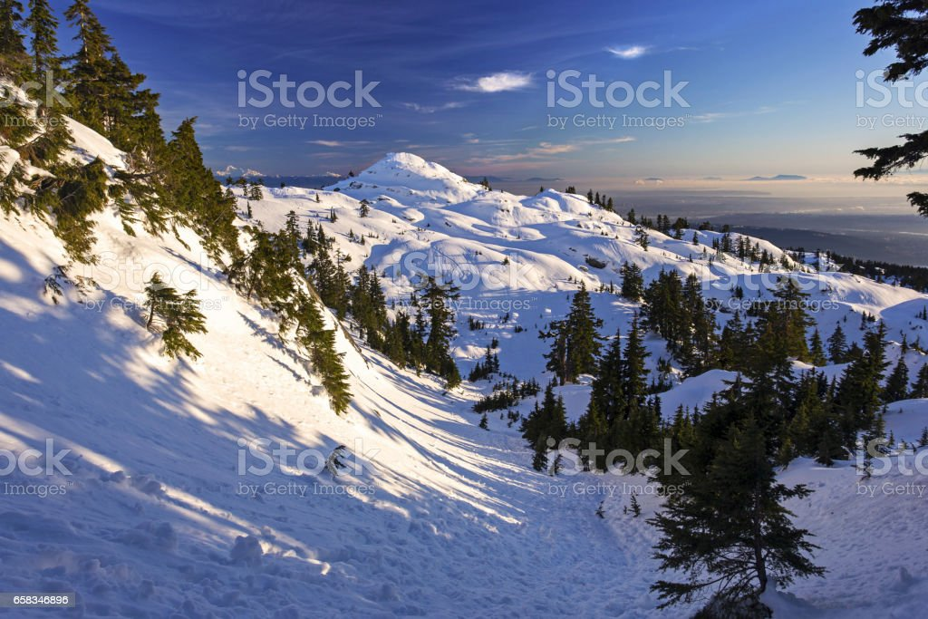 Pump Peak on Mount Seymour stock photo
