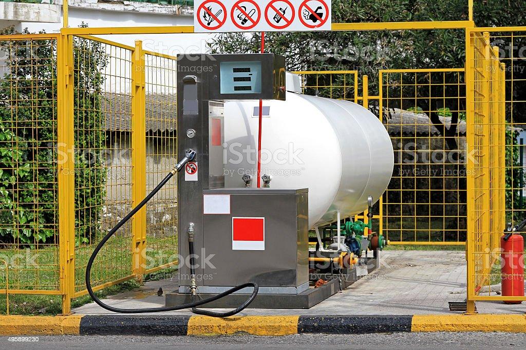 LPG Pump stock photo