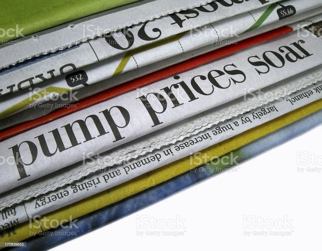 Pump Prices Soar stock photo