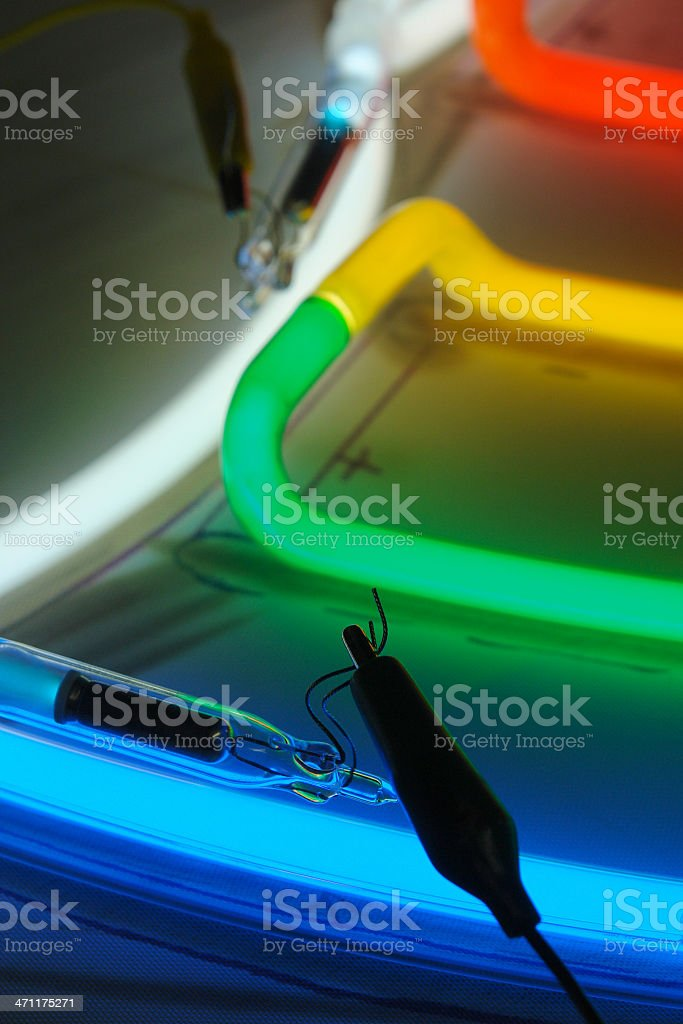 pumped neon on layout royalty-free stock photo