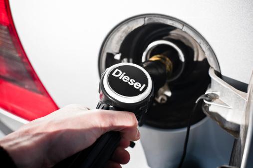 Fuel pump at Petrol Station. Diesel Pump.