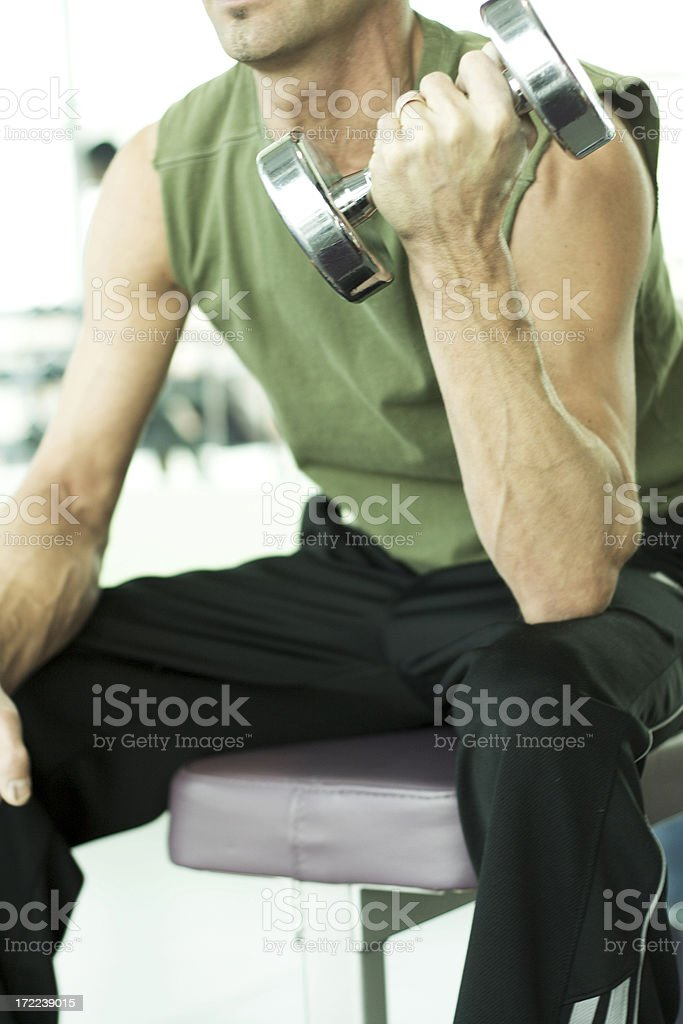 Pumping Iron stock photo