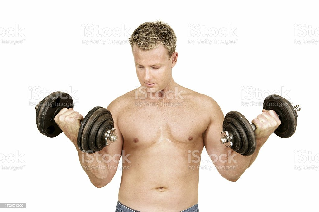 Pumping Iron royalty-free stock photo