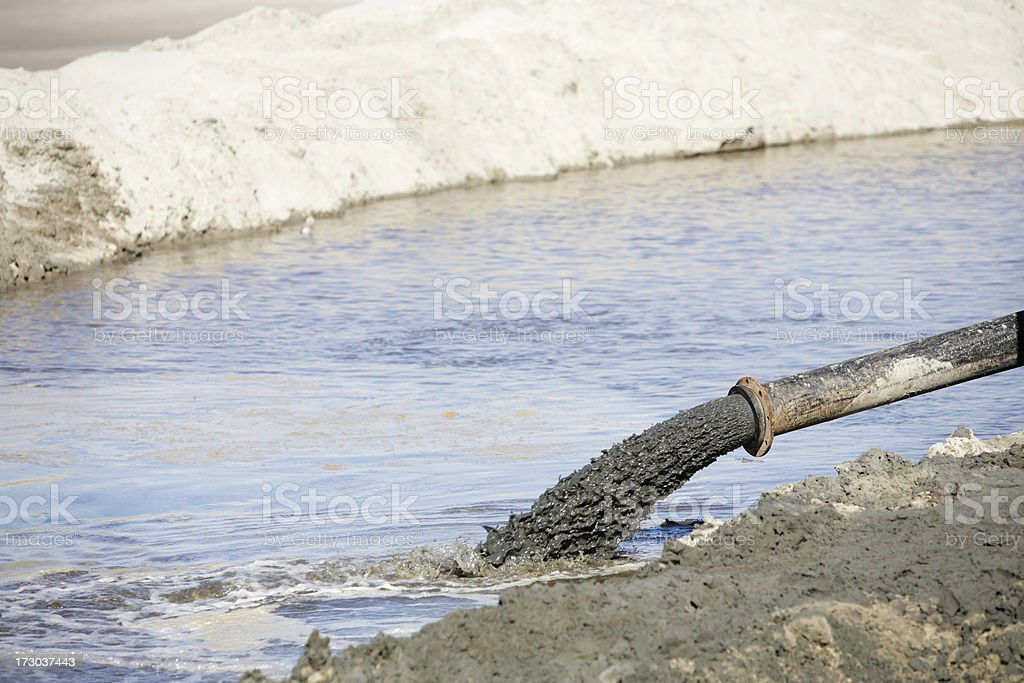 Pumping Mud pumping Construction Industry Stock Photo