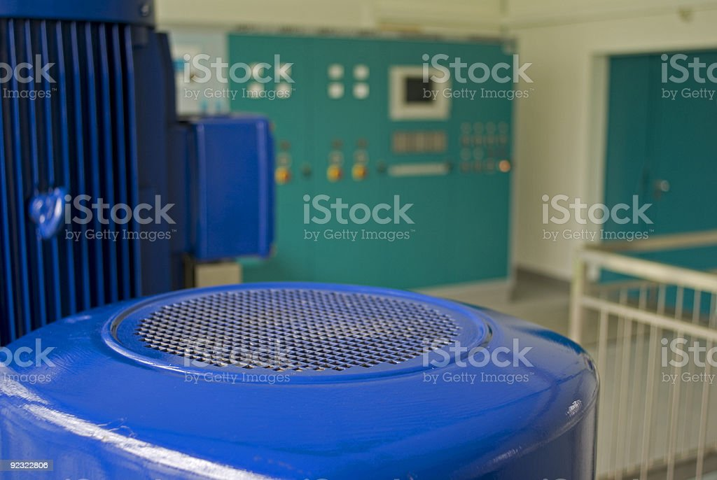 Pumping station stock photo