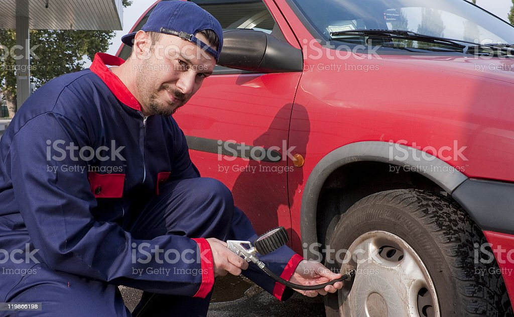 Pumping Tyre royalty-free stock photo