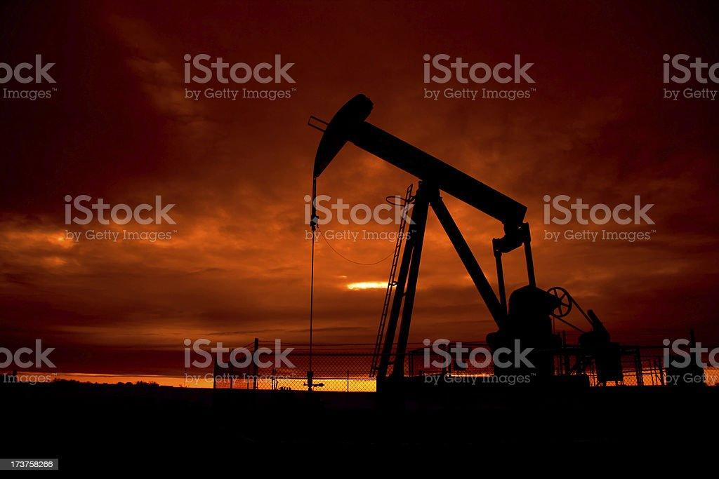 Pumpjack at dusk royalty-free stock photo
