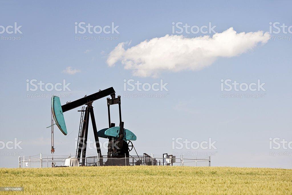 Pumpjack in Alberta royalty-free stock photo