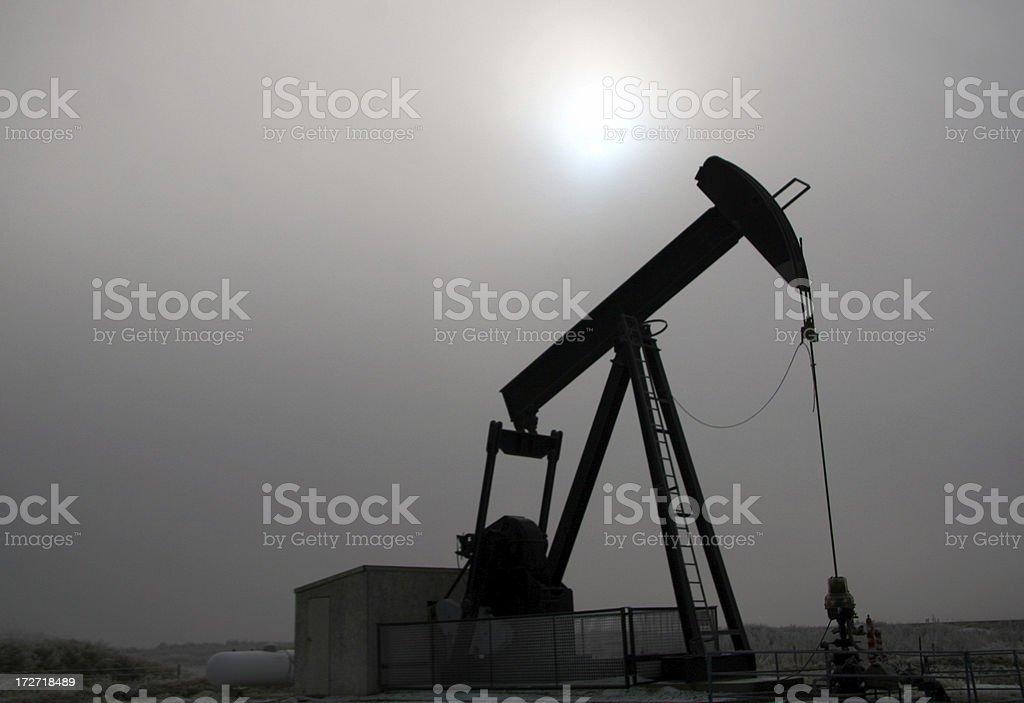 Pumpjack in Fog royalty-free stock photo