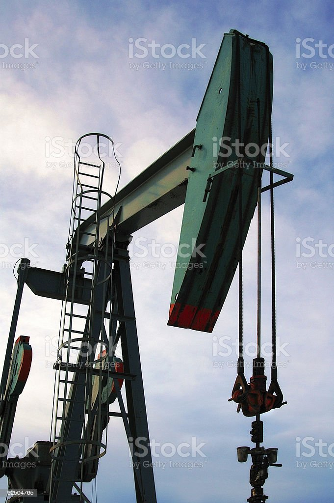 Pumpjack in Morning royalty-free stock photo