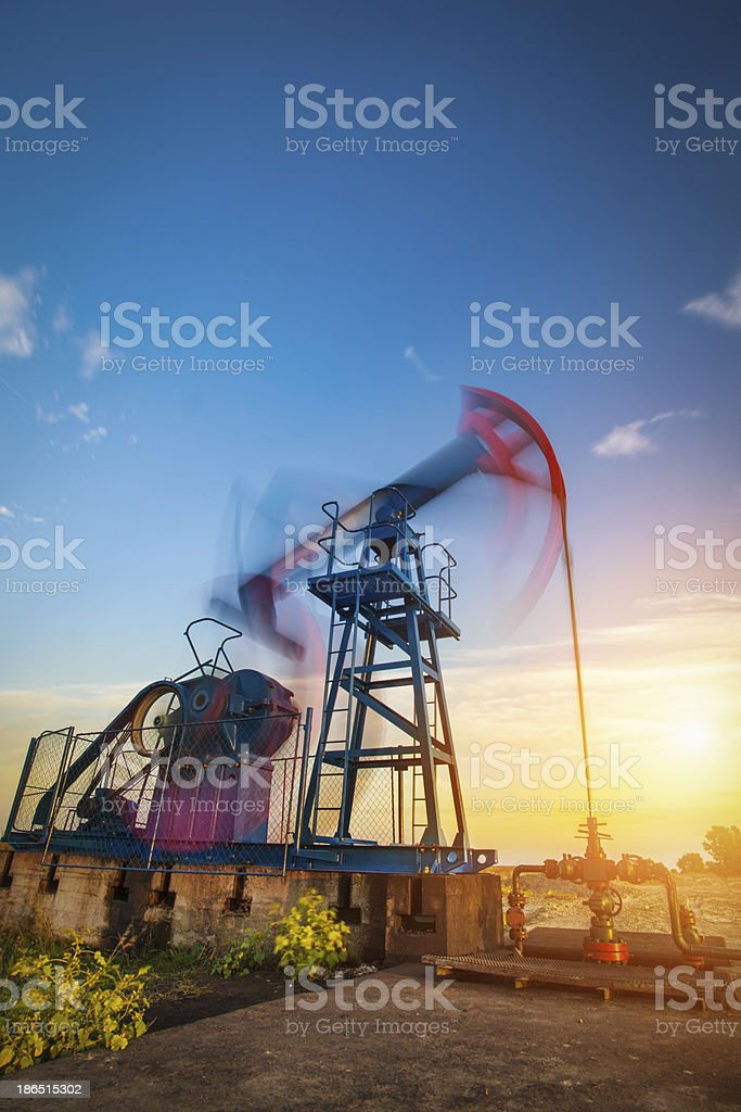 Pumpjack in Motion royalty-free stock photo