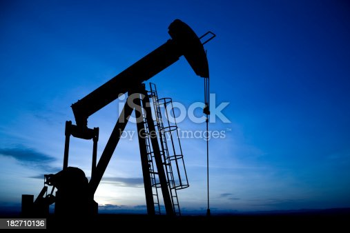 An iconic oil and gas industry symbol taken at dusk.